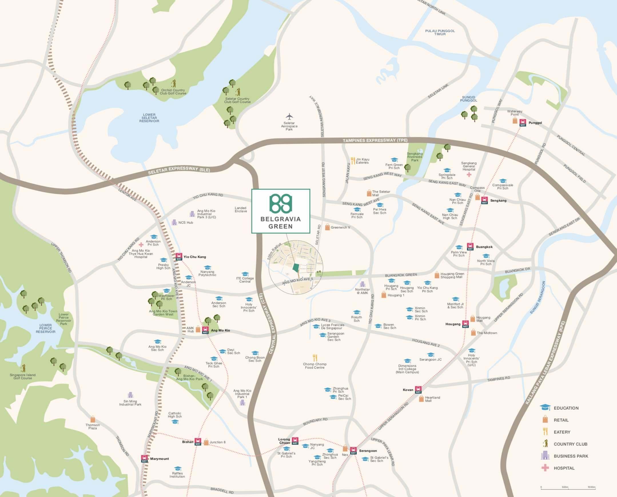Begravia-green-location-map
