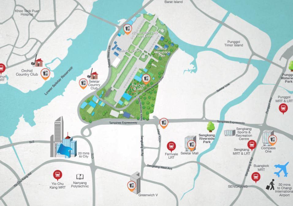 belgravia-green-aerospace-location map