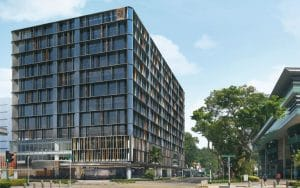 An artist impression of the exterior of 5One Central after the planned renovation and asset enhancement works.